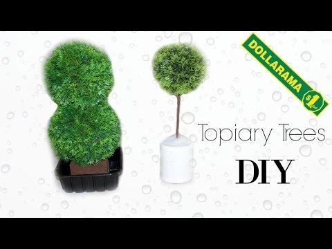 DIY: Modern Topiary plant | Faux Tree | DOLLAR store | Pinterest diy