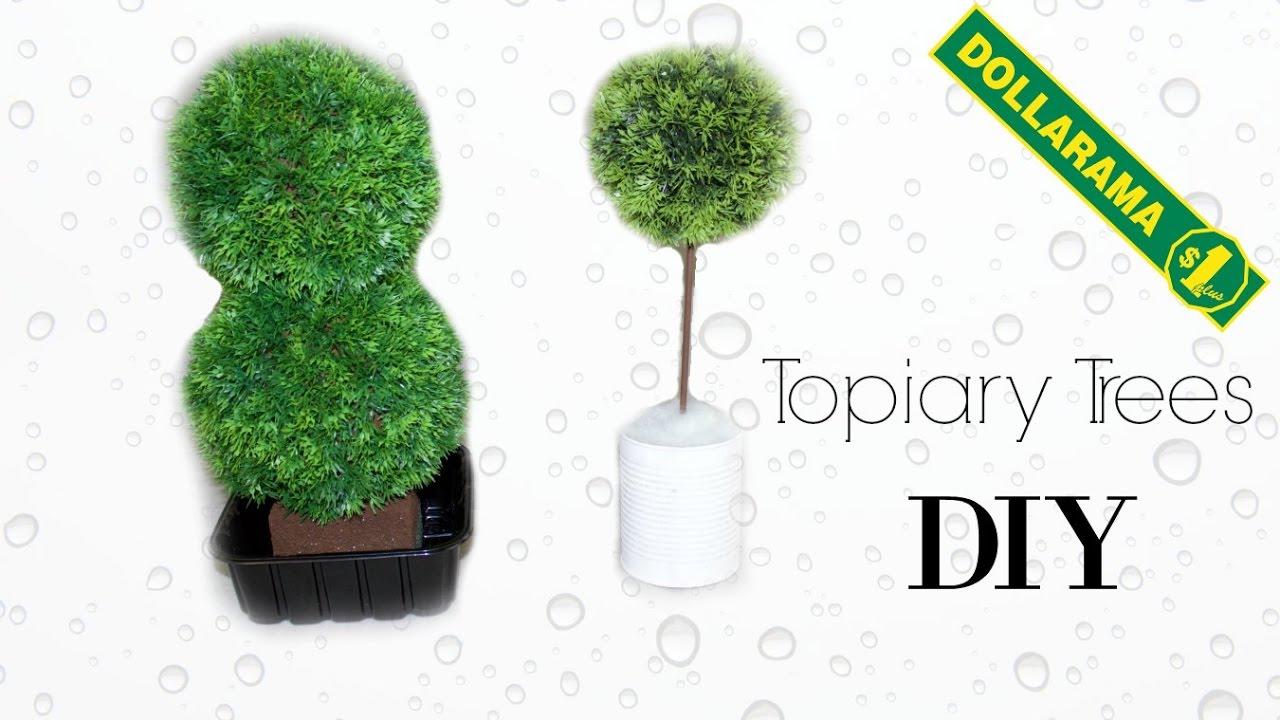 Diy Modern Topiary Plant Faux Tree Dollar Pinterest You