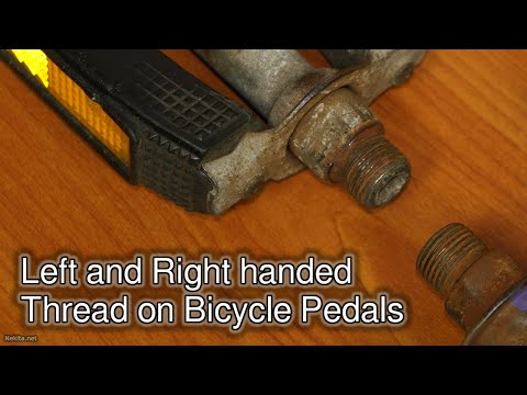 Left and Right handed Thread on Bicycle Pedals thumbnail