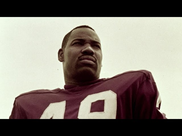 Bobby Mitchell, the first black football player for the Washington Redskins