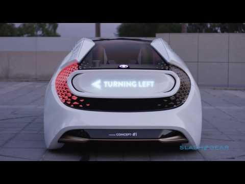 Toyota Concept-i autonomous car with AI at CES 2017