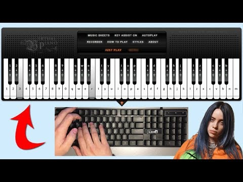 I Played Bad Guy On A Virtual Piano Youtube