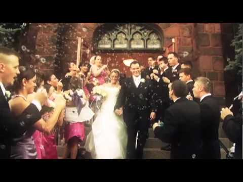 Beautiful Bubbles Wedding Ceremony Exit Shot