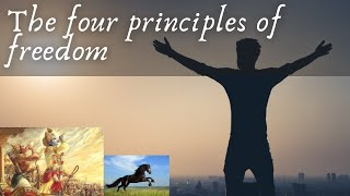 The four principles of freedom according to the Vedas