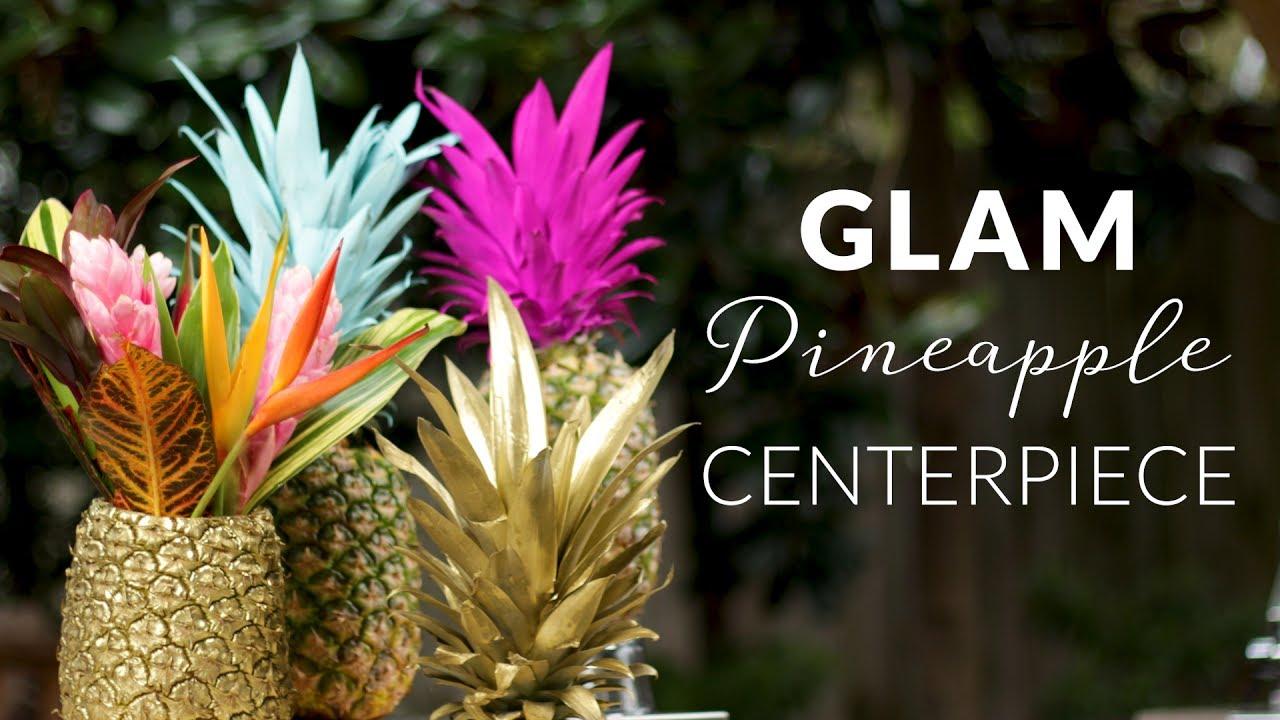 Best diy pineapple centerpiece decor ideas youtube