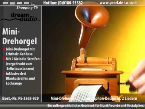 dream audio Mini-Drehorgel im Grammophon-Design inkl. Melodiestreifen