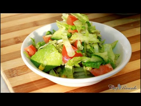 Healthy Summer Salad Recipe With Avocados Salad Jamaica Chef Salad | Recipes By Chef Ricardo