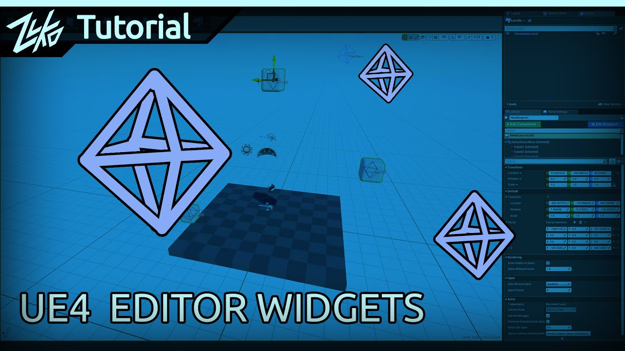 UE4 How To Use Blueprint 3D Widgets