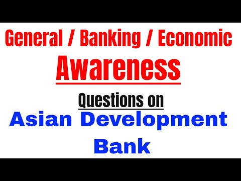 Asian Development Bank (ADB) Most Important Questions for IBPS PO | CLERK | SSC | UPSC | | CDS Exam