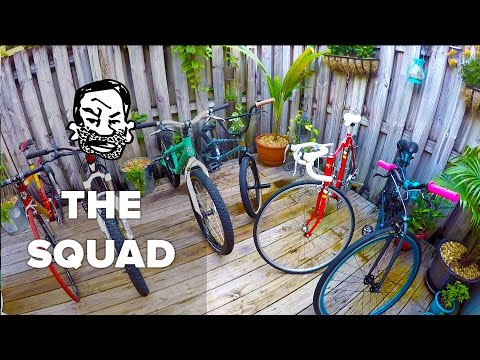Bike check on the whole squad