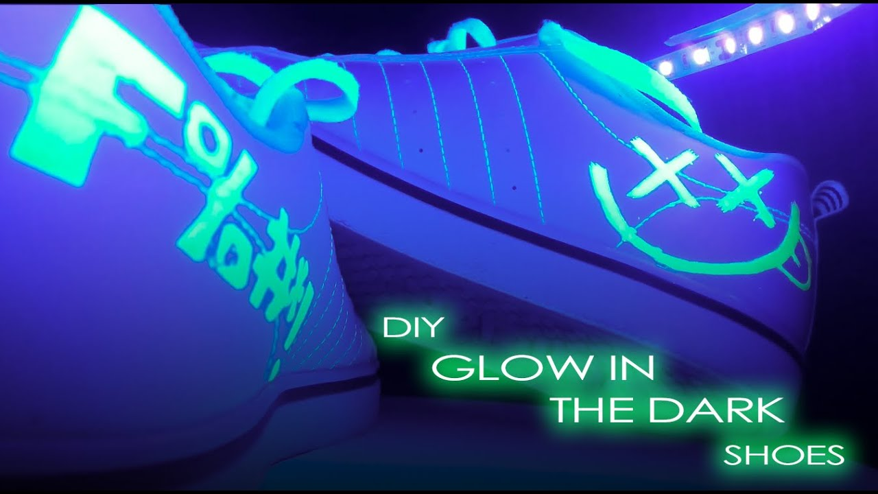 shoes and now they glow in the dark