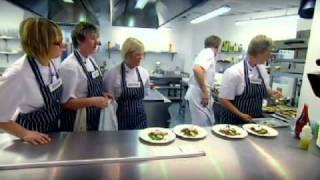 pea salad with duck egg and pancetta gordon ramsay