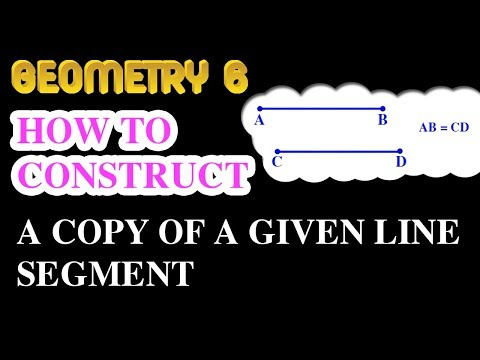 How to construct a copy of a given line segment | Online Courses | Geometry 6 | Math Garden | 4K