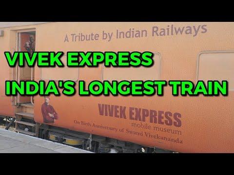 Vivek express India's longest train journey