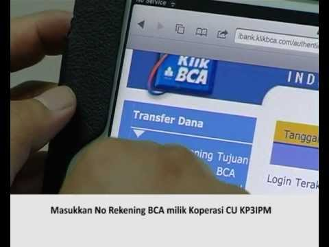 BCA Internet Banking transfer account - YouTube