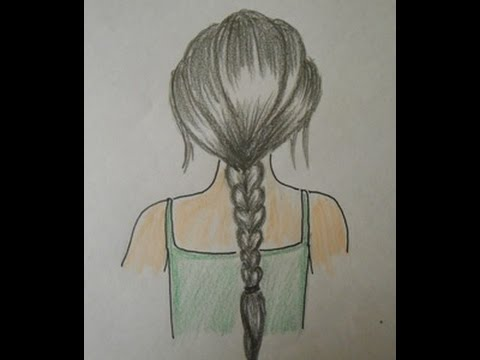 How to draw hair braids easy drawing step by step for kids and beginners youtube
