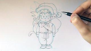 How to Draw Santa Goku | Step by Step Tutorial