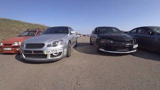The eternal controversy. Subaru vs Mitsubishi and also mega race Lexus ISF vs SLK 55 AMG and Bmw 750