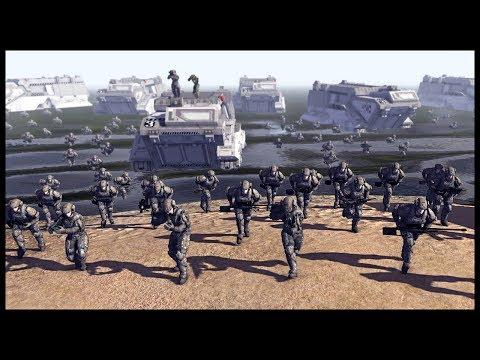 UNSC MARINE BEACH ASSAULT! Base Siege on Reach - Call to Arms Halo Mod Gameplay