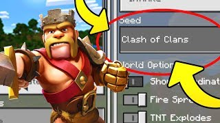"Minecraft ""CLASH OF CLANS"" World (Clash of Clans Minecraft Seed)"