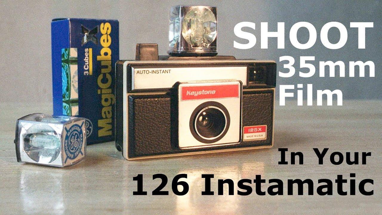 126 instamatic adapter use standard 35mm into 126 camera