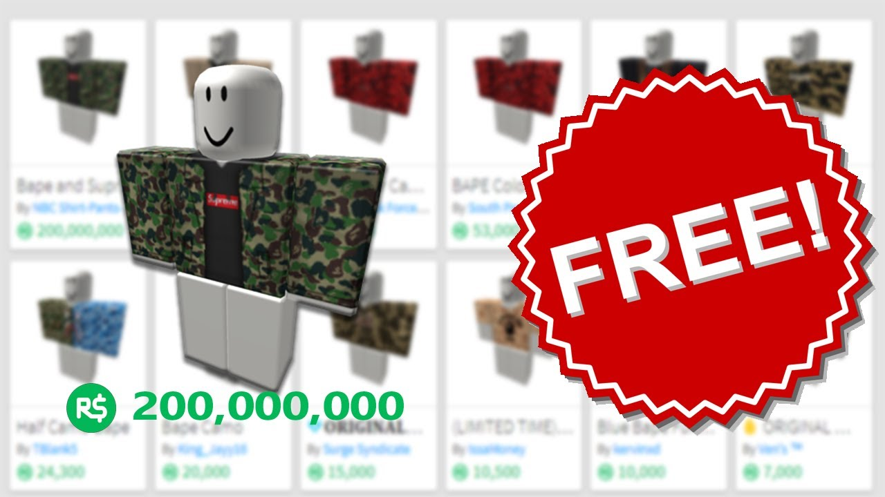 how to get free clothes on roblox 2017