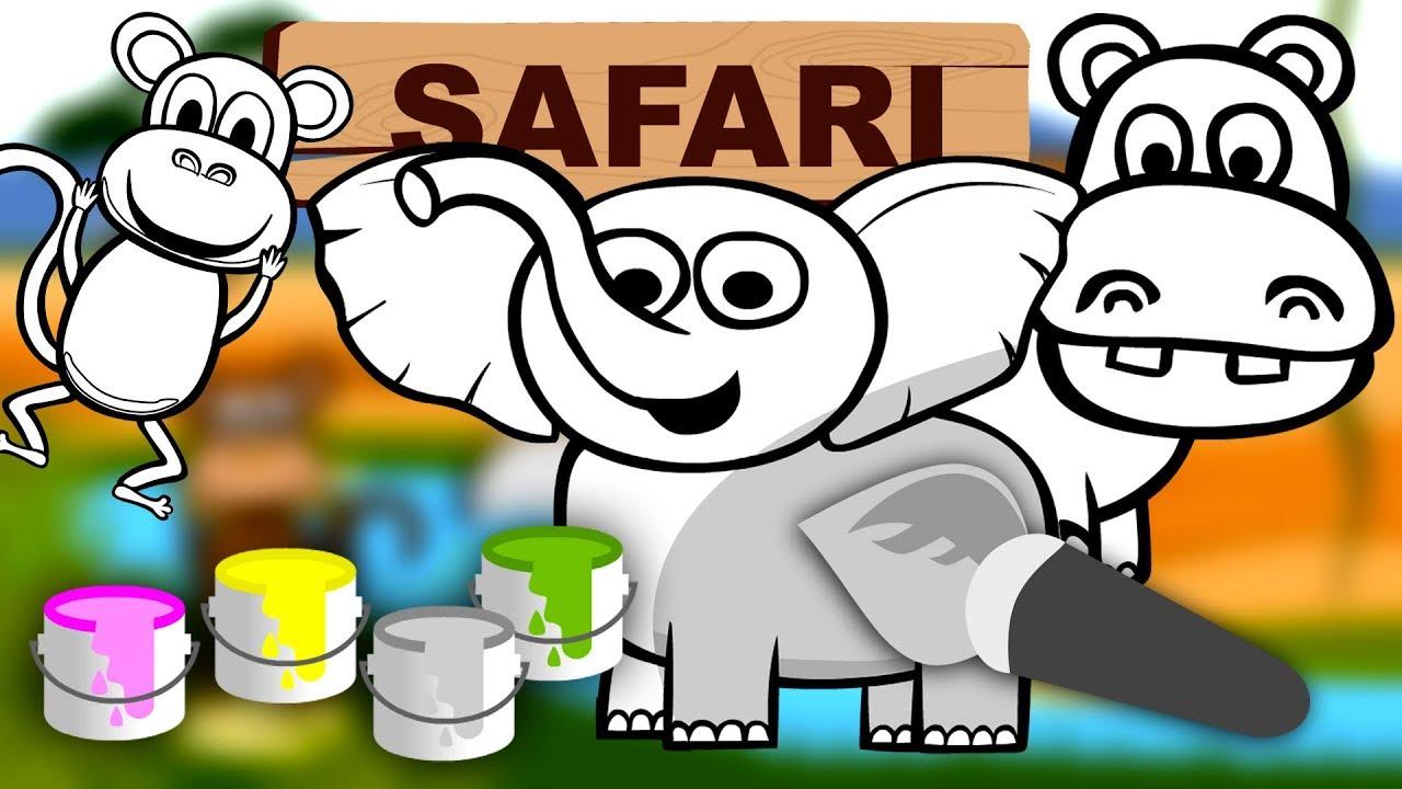 Kolorowanie Dla Dzieci Zwierz Ta W Afryce Safari Czywieszjak Naijafy