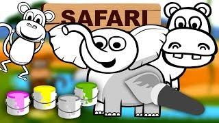 Kolorowanie Dla Dzieci Zwierzęta w Afryce Safari | CzyWieszJak