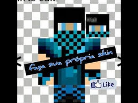Como Criar Sua Própria Skin Para Minecraft Pe No YouTube - Skin para minecraft pe celular