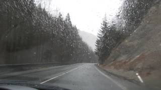 Словакия горная дорога Низкие Татары