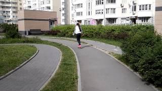 Урок катания на скейте #1 :D