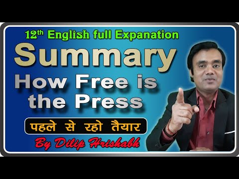 Summary How free is the Press English literature