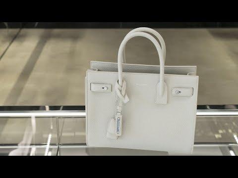 Женская сумочка Saint Laurent из кожи теленка, review ID162792
