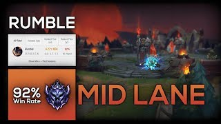 A Top Lane Champ Goes Mid With A 92% Win Rate In DIAMOND 2