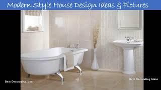 Bathroom bath tile design ideas   Pictures of latest modern bathroom toilet decor & interior