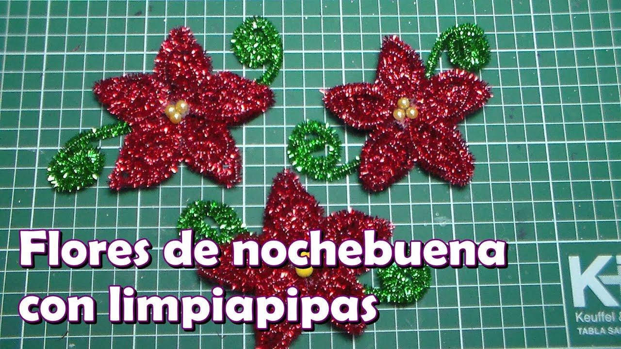 Flor De Nochebuena Con Limpiapipas Vi
