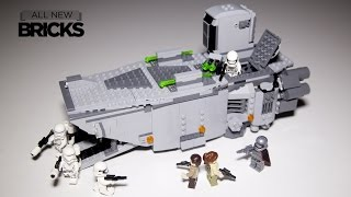 Lego Star Wars 75103 First Order Transporter Speed Build