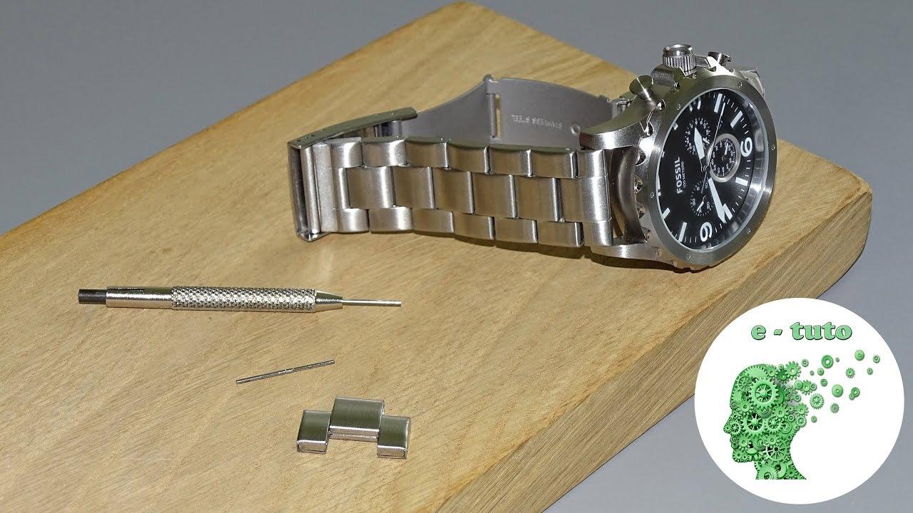 Outil montre pour raccourcir et régler bracelet enlever maillon axe Montre