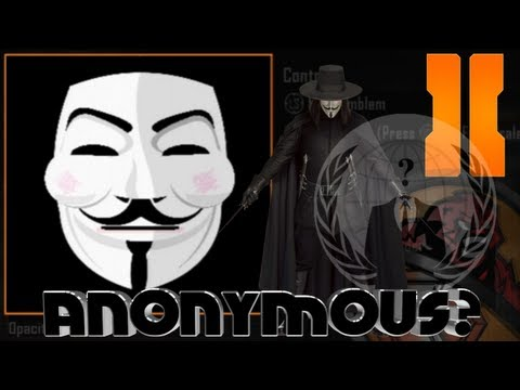Black Ops 2 - Anonymous / V For Vendetta Mask Emblem Tutorial