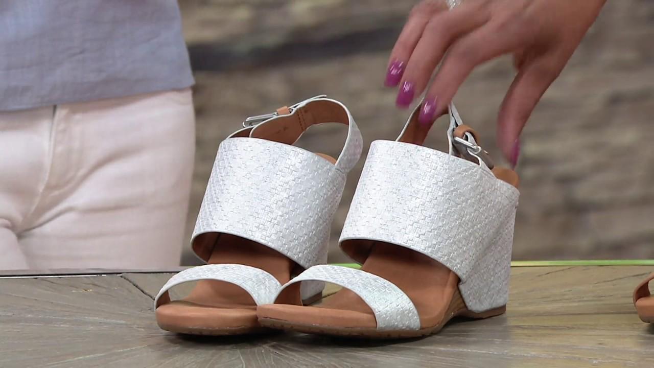 b70570593d74 Gentle Souls Leather Covered Wedge Sandals - Inka on QVC - YouTube