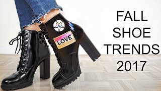 FALL SHOE TRENDS 2017
