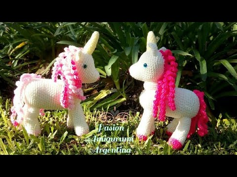 Unicorn Crochet Tutorial - IT'S SO FLUFFY! Amigurumi Step by Step ... | 360x480