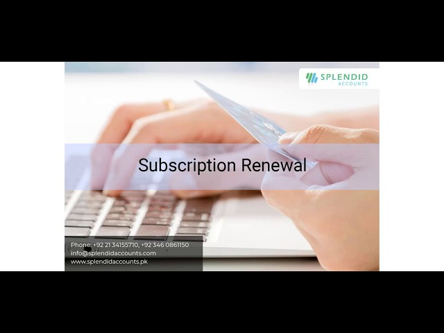 How to Make month subscription - Subscription Renewal  in Splendid Accounts - ERP