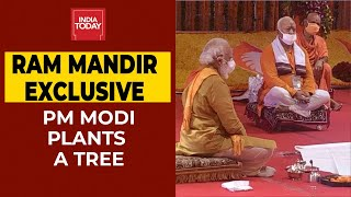 Ram Mandir Live Updates: PM Narendra Modi Plants A Tree in Ram Janmabhoomi, Performs Abhishek Puja
