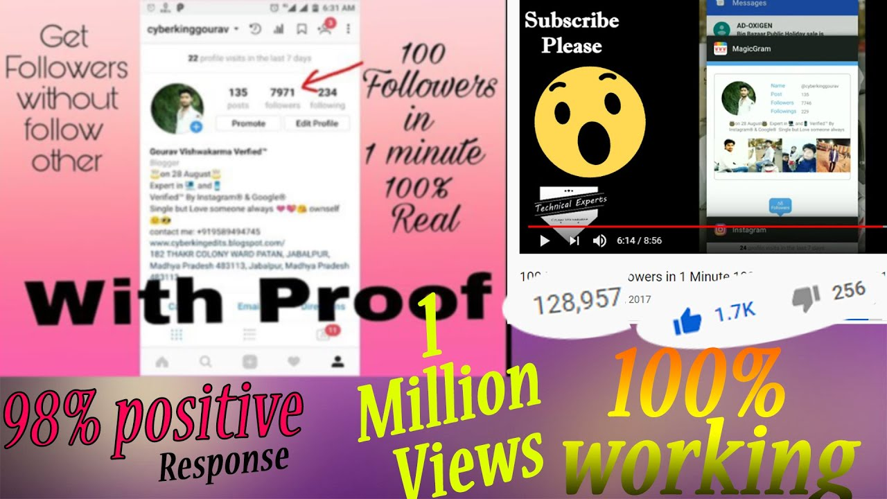 100 Instagram Followers in 1 Minute 100% Real || New Trick 2017