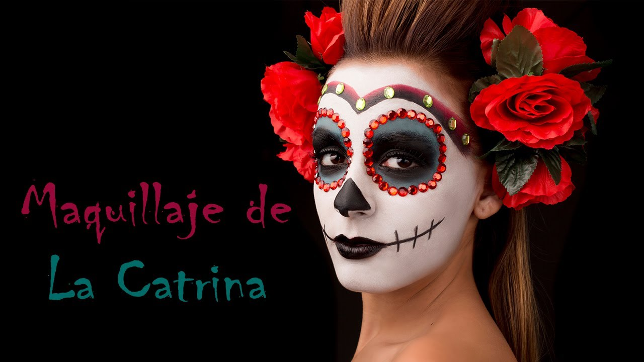 maquillaje de la catrina paso a paso youtube. Black Bedroom Furniture Sets. Home Design Ideas