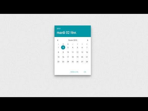 Tutoriel VueJS : Créer un Datepicker