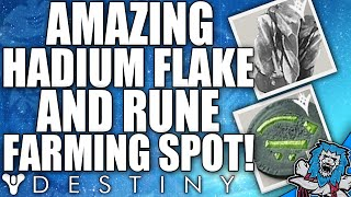 Destiny: Amazing HADIUM FLAKE & RUNE Farming Spot!! (Infinite Materials)