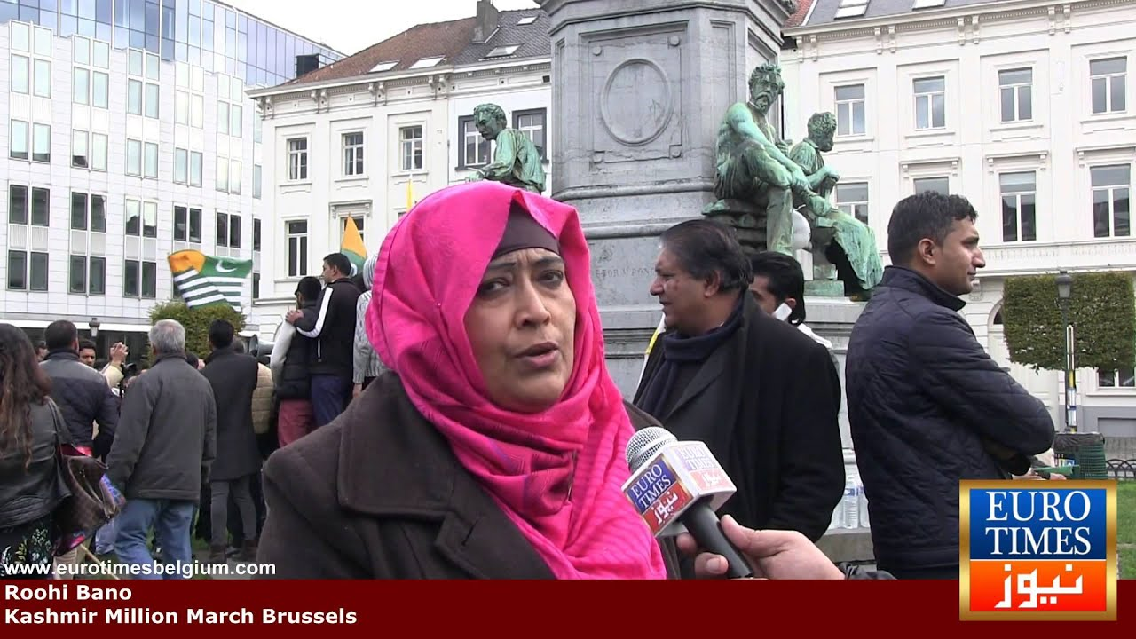 Interview with roohi bano kashmir million march brussels for Roohi bano wedding pics
