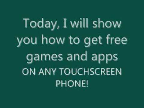 HOW TO GET FREE GAMES AND APPS ON YOUR SAMSUNG INSTINCT AND ANY TOUCHSCREEN PHONE!!!